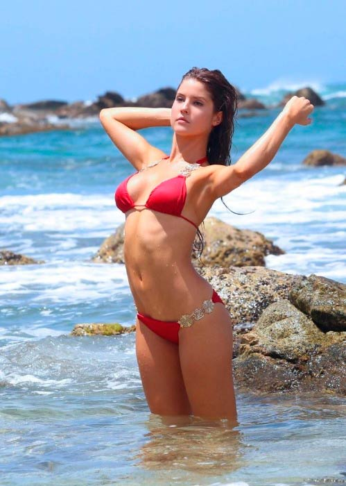 Amanda Cerny in bikini at the DJ Chuckie music video shoot in September 2014