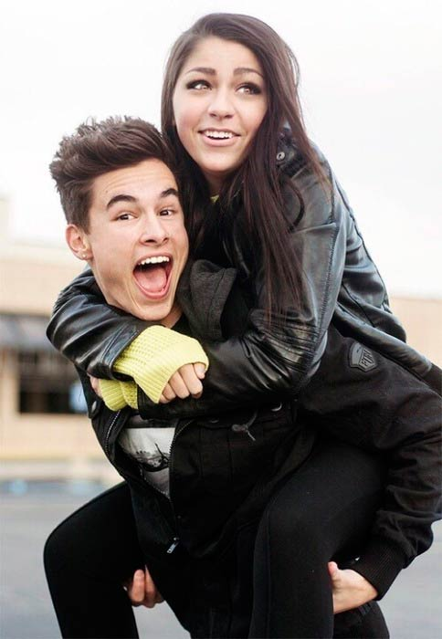 Andrea Russett and Kian Lawley in a picture shared on social media in 2014