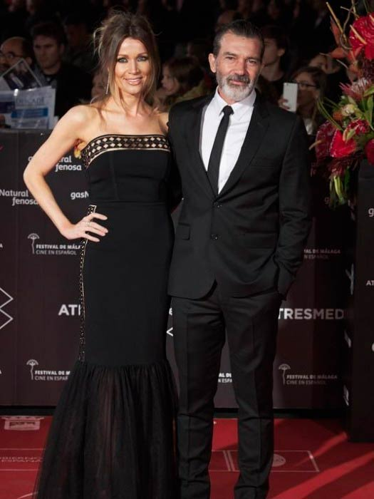 Antonio Banderas and Nicole Kimpel at the 20th Malaga Film Festival closing ceremony in March 2017