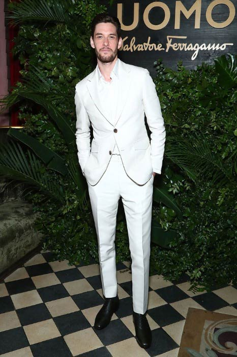 Ben Barnes at the UOMO Salvatore Ferragamo celebration in New York City in April 2017