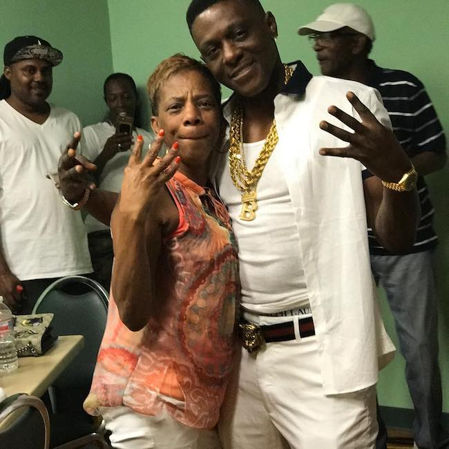 Boosie Badazz with his mother backstage right before his performance in May 2016
