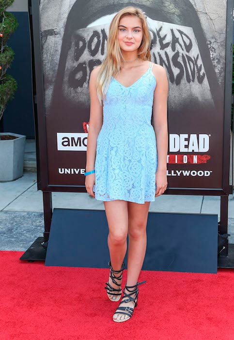 Brighton Sharbino at Universal Studios, Hollywood for The Walking Dead Press event in June 2016