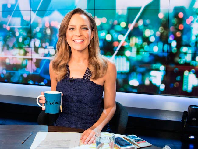 Carrie Bickmore presenting the show