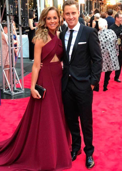 Carrie Bickmore with partner Chris Walker in April 2017