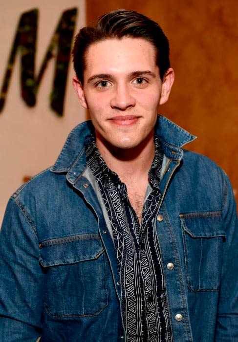 Casey Cott at the H&M Loves Coachella Tent during Coachella Valley Music & Arts Festival in April 2017