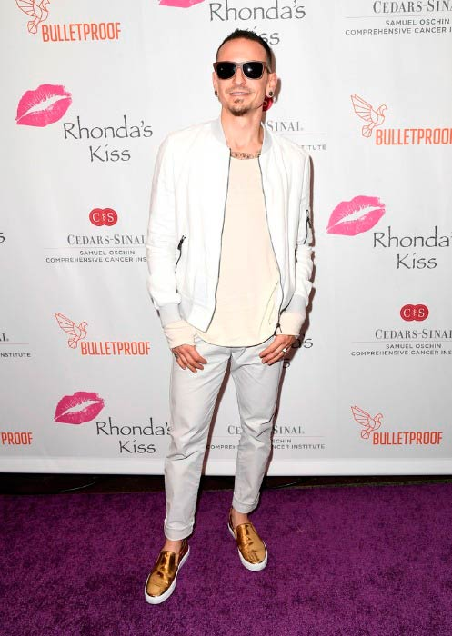 Chester Bennington at the Rhonda's Kiss Concert in November 2016