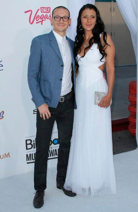 Chester Bennington and Talinda Ann Bentley at the 2012 Billboard Music Awards