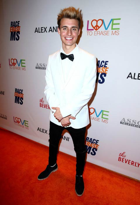 Christian Collins at the 24th Annual Race To Erase MS Gala in May 2017
