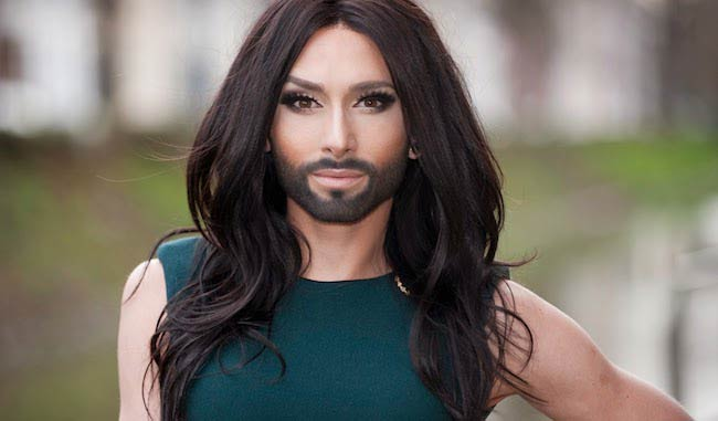 Conchita Wurst during a photoshoot in Ghent, Belgium in January 2014