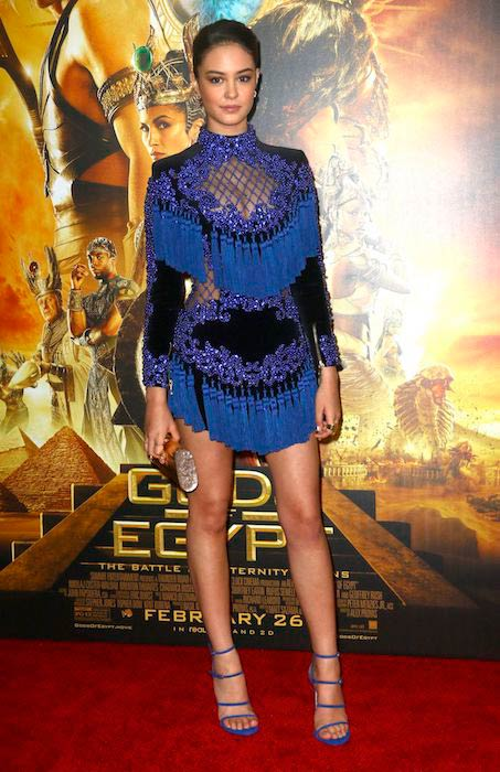 Courtney Eaton at the New York premiere of Gods of Egypt in February 2016