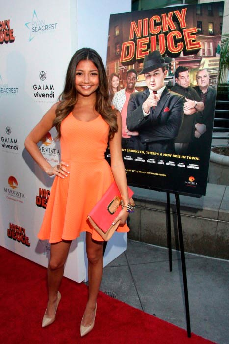 Cristine Prosperi at the premiere of Nickelodeon's Nicky Deuce in May 2013 in Hollywood, California