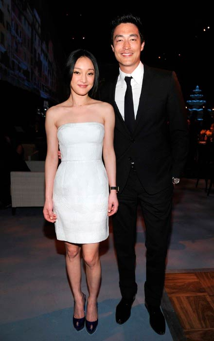 Daniel Henney and Xun Zhou at the celebration of IWC Schaffhausen and Peter Lindbergh's A Night in Portofino in April 2011