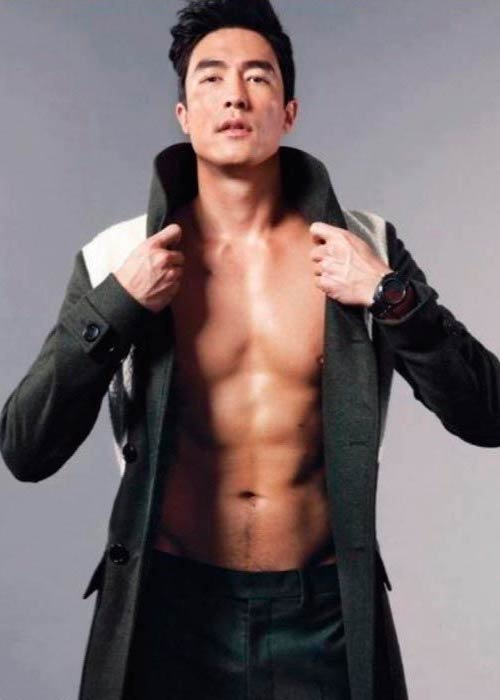 Daniel Henney in a modeling photoshoot