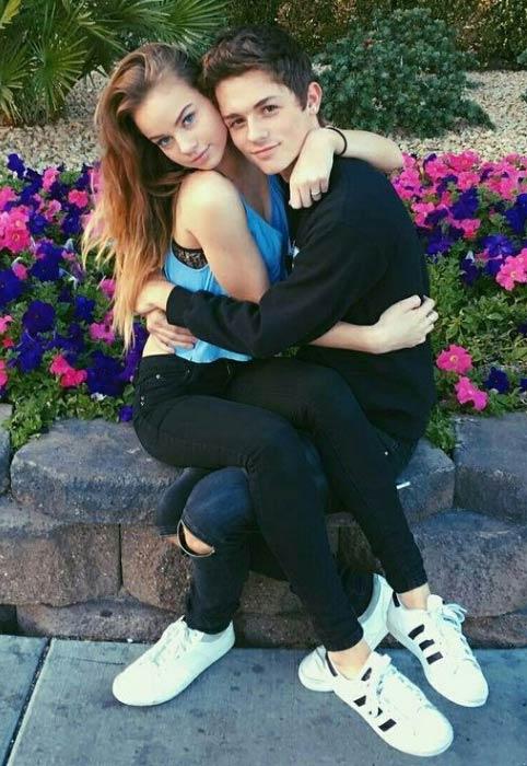 Dylan Dauzat with girlfriend Liora Lapointe