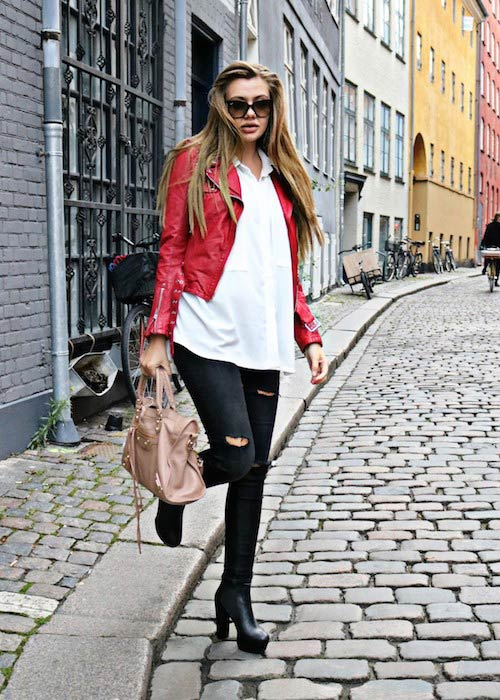 Fie Laursen in a modeling picture shared on her social media account