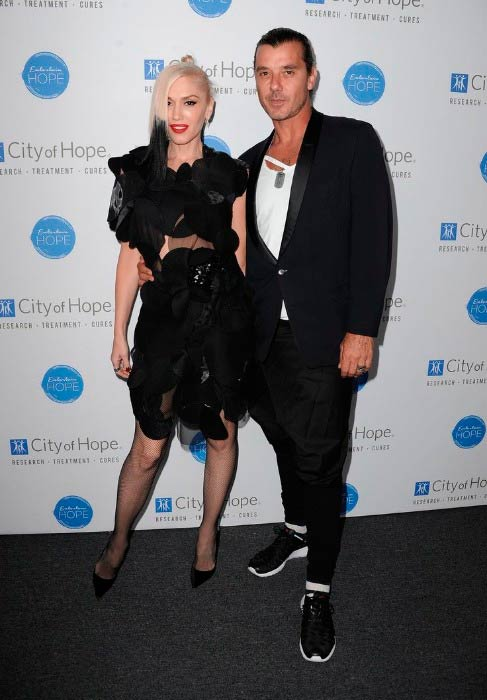 Gavin Rossdale and Gwen Stefani at the City of Hope Spirit of Life Gala in West Hollywood in October 2014