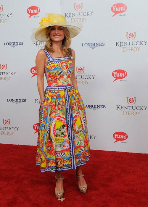 Giada De Laurentiis at the 143rd Kentucky Derby in Louisville Kentucky on May 6, 2017