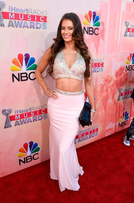 Hannah Stocking at the iHeartRadio Music Awards in March 2015