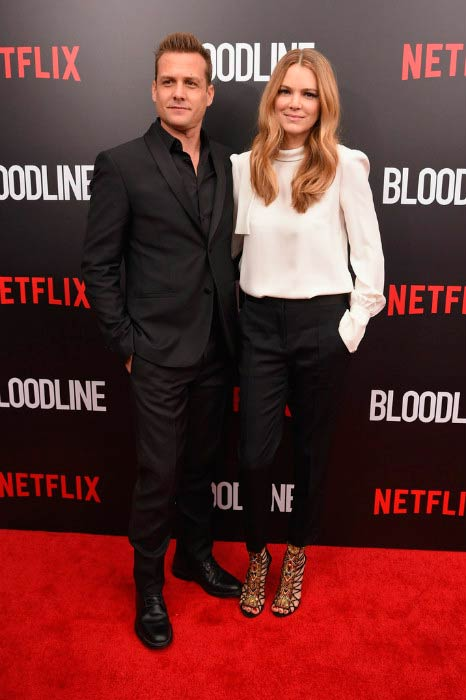 Jacinda Barrett and Gabriel Macht at the Bloodline New York Series premiere in March 2015