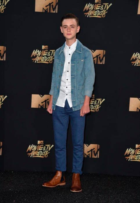 Jaeden Lieberher at the MTV Movie and TV Awards in May 2017
