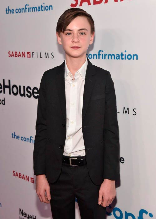 Jaeden Lieberher at the premiere of Saban Films' The Confirmation in March 2016