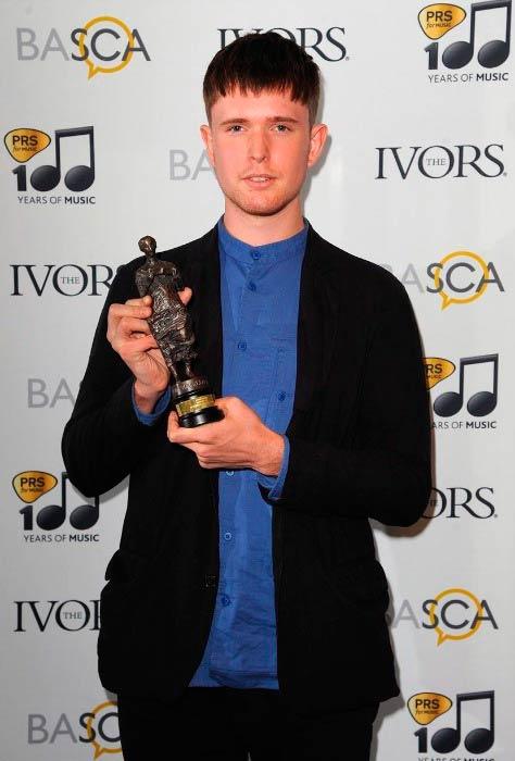 James Blake at the Ivor Novello Awards in May 2014