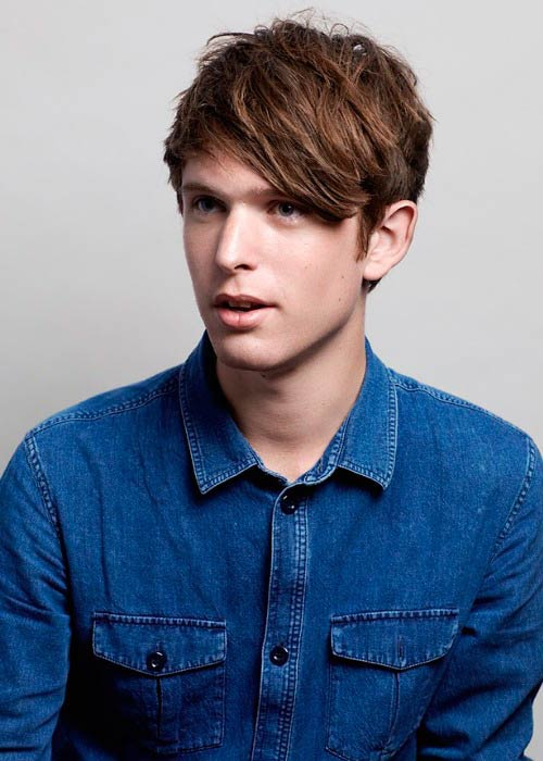 James Blake in a modeling photoshoot in 2015