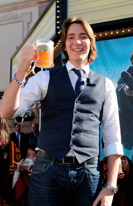 James Phelps at the Universal Studios Hollywood Hosts Butterbeer Toast event in December 2011