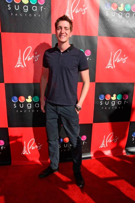 James Phelps at the autograph signing at the Sugar Factory in Las Vegas in March 2012