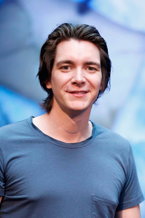 James Phelps at the press conference for the Harry Potter: The Exhibition in April 2014 in Cologne