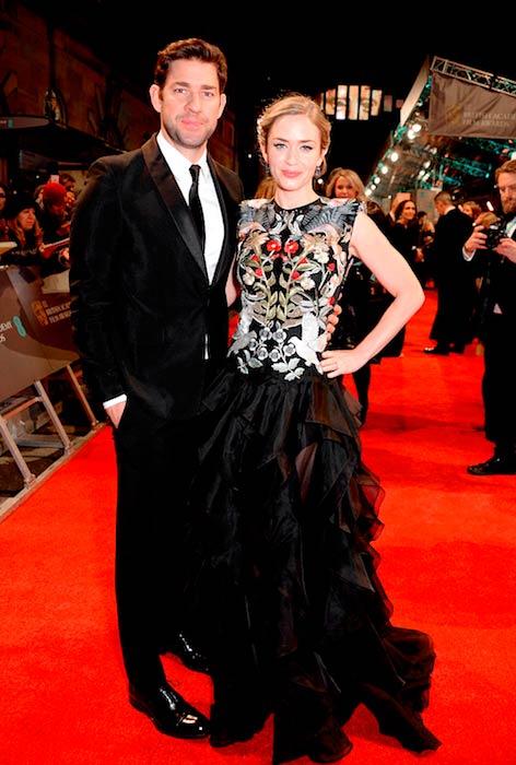 John Krasinski with wife Emily Blunt at the 2017 EE British Academy Film Awards (BAFTA)