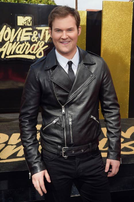 Justin Prentice at the MTV Movie And TV Awards in May 2017