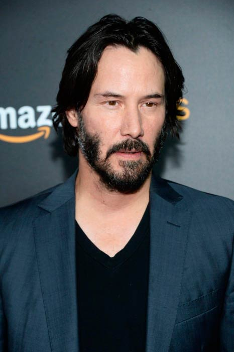 Keanu Reeves at the premiere of Amazon's The Neon Demon in June 2016