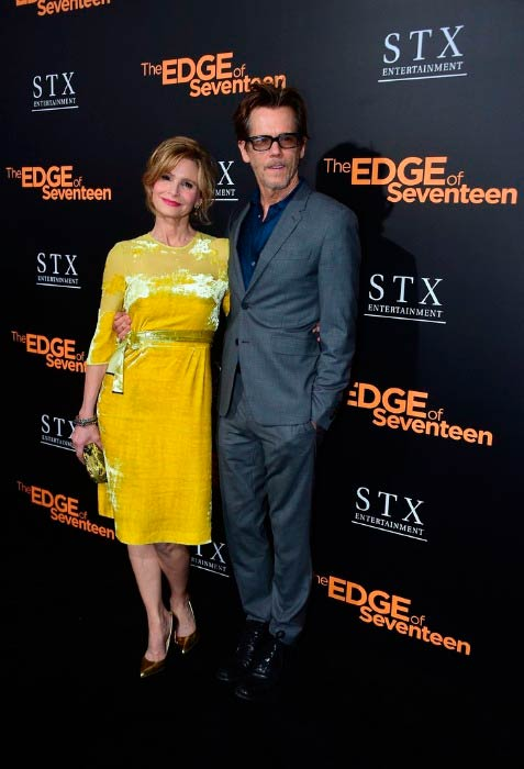 "Kevin Bacon and Kyra Sedgwick at the Los Angeles Premiere of ""The Edge of Seventeen"" in November 2016"