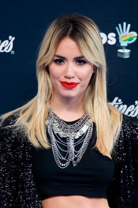 Lali Espósito at the 40 Principales Awards photocall in December 2014 in Madrid
