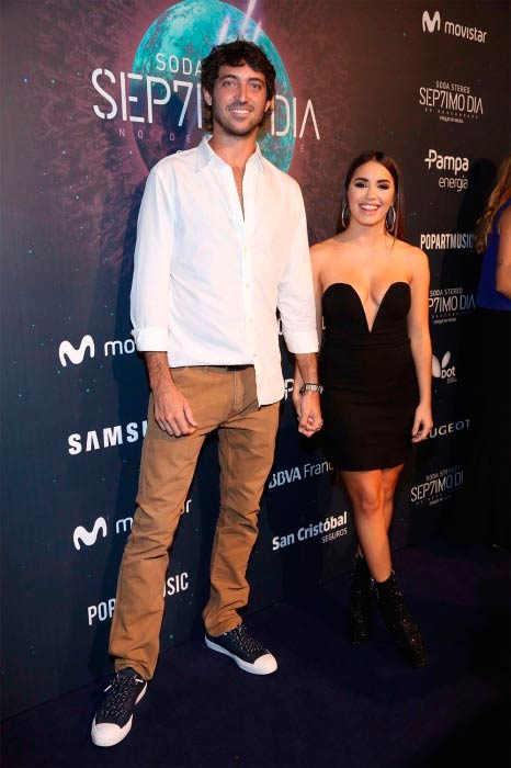 Lali Espósito and Santiago Mocorrea at the Pop Art Music event in 2017
