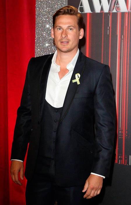 Lee Ryan at 2017 British Soap Awards