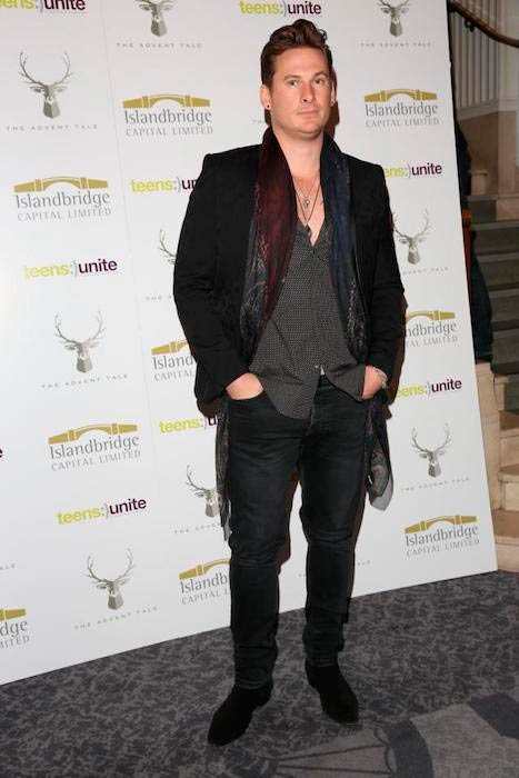 Lee Ryan at a fundraising gala for Teens Unite's The Advent Tale in London on December 9, 2016