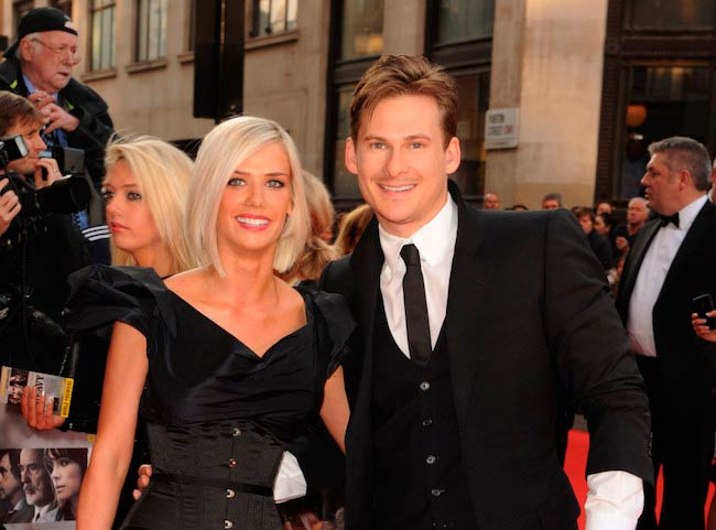 Lee Ryan with former girlfriend Samantha Millar during the World Premiere of The Heavy in April 2010