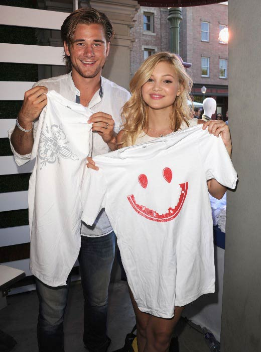 Luke Benward and Olivia Holt at the Variety's Power of Youth in July 2013