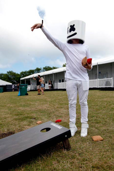 Marshmello at the Samsung Creator's Lab at Lollapalooza Festival in June 2016 in Chicago