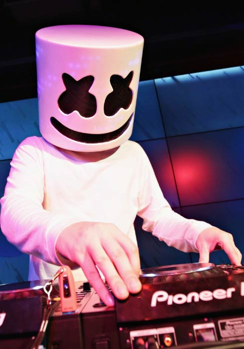 Marshmello at the private concert for SiriusXM listeners in New York City in November 2016