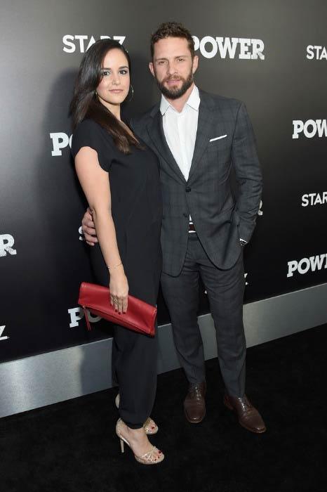 Melissa Fumero and David Fumero at the STARZ Power New York season 3 premiere in June 2016