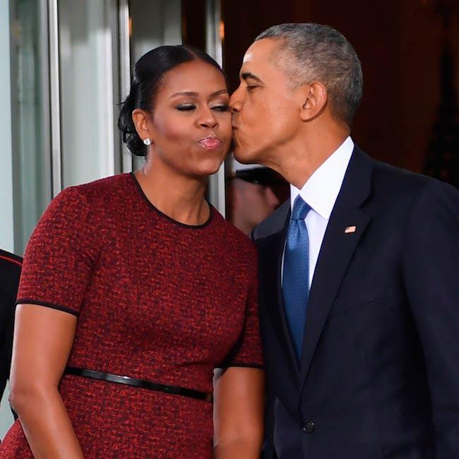 Michelle Obama with Barack Obama at Jason Wu 2017 Inauguration Tout