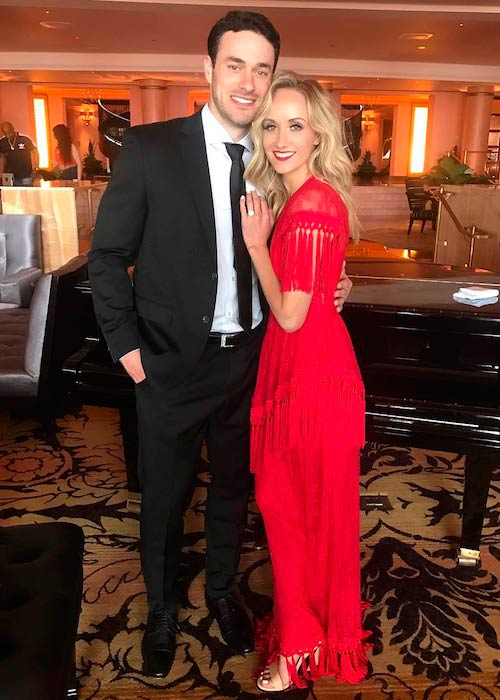 Nastia Liukin and Matt Lombardi at an event in San Juan, Puerto Rico April 2017