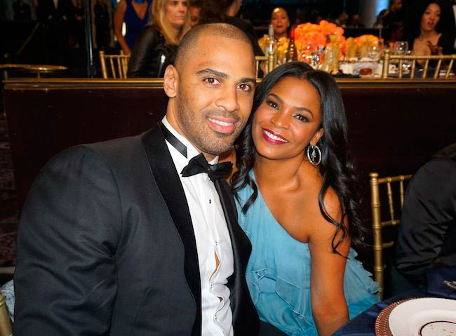 Nia Long and Ime Udoka at the American Black Film Festival Honors Awards in California on February 17, 2017