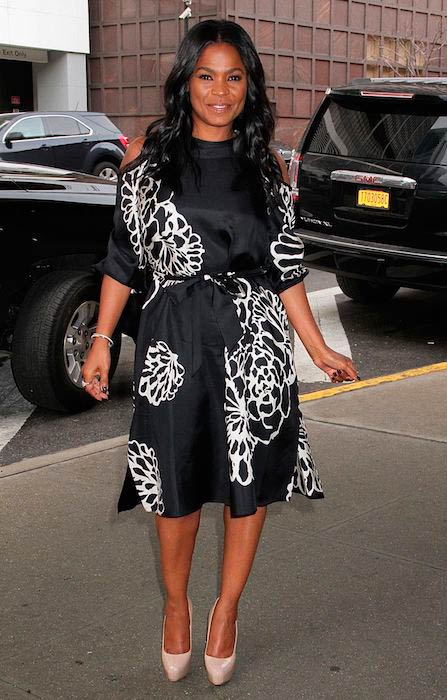 Nia Long looks chic as she arrived for The Harry talk show in New York on January 12, 2017