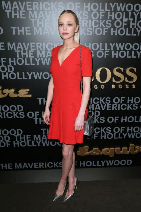 Portia Doubleday at the Hugo Boss Mavericks of Hollywood event in February 2017