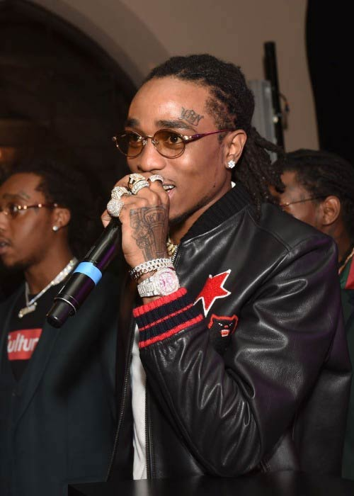 Quavo at the GQ and Chance The Rapper Celebrate the Grammy's event in February 2017