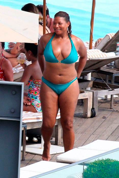 Queen Latifah's beach body during a vacation in Brazil in January 2015